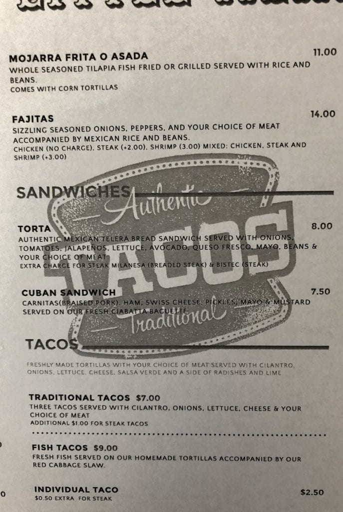 my little mexico wilkes barre pa menu